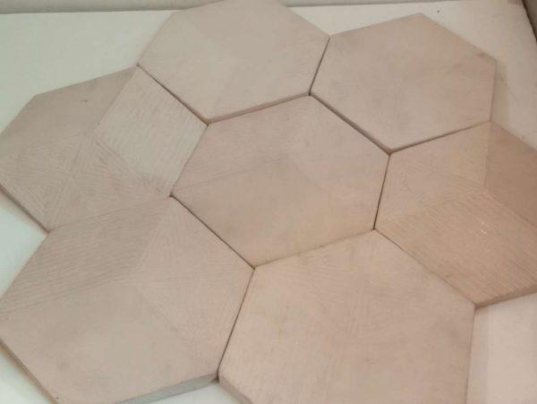 Mozaik dinding Concrete Cembung Cekung