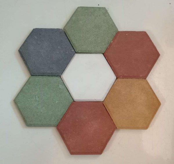 Mozaik Dinding Hexagonal Warna